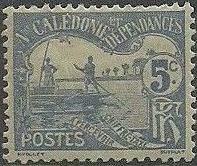 New Caledonia 1906 Men Poling (Postage due Stamps) a