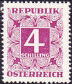 Austria 1951 Postage Due Stamps - Square frame with digit (3rd Group) f.jpg