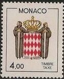 Monaco 1986 National Coat of Arms - Postage Due Stamps (2nd Group) d