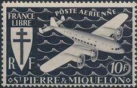 St Pierre et Miquelon 1942 France Libre (Air Post Stamps) d