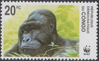 Congo, Democratic Republic of 2002 WWF Gorillas a