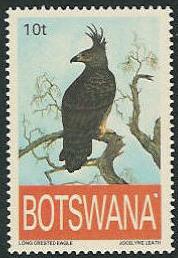 Botswana 1993 Endangered eagles a