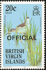 British Virgin Islands 1986 Birds Ovptd. OFFICIAL i