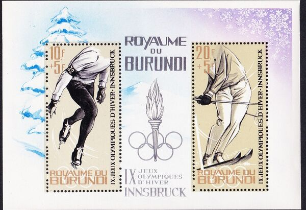 Burundi 1964 9th Winter Olympic Games, Innsbruck g