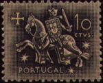 Portugal 1953 Definitives - Medieval Knight b