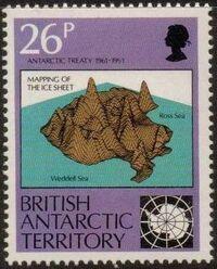 British Antarctic Territory 1991 30th Anniversary Antarctic Treaty b