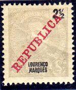 Lourenço Marques 1911 D. Carlos I Overprinted a