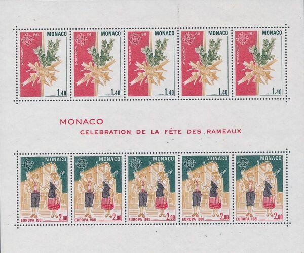 Monaco 1981 EUROPA - Folklore c