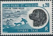 St Pierre et Miquelon 1973 Newfoundland Dog - Postage Due Stamps c