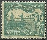 New Caledonia 1906 Men Poling (Postage due Stamps) h