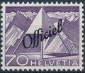 Switzerland 1950 Engineering - Switzerland Postage Stamps of 1949 Overprinted Officiel k.jpg