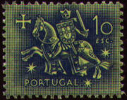 Portugal 1953 Definitives - Medieval Knight o