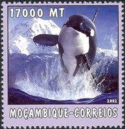 Mozambique 2002 The World of the Sea - Whales 1 e