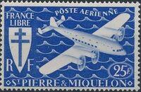 St Pierre et Miquelon 1942 France Libre (Air Post Stamps) e