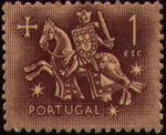 Portugal 1953 Definitives - Medieval Knight g