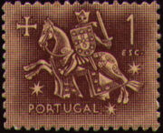 Portugal 1953 Definitives - Medieval Knight g