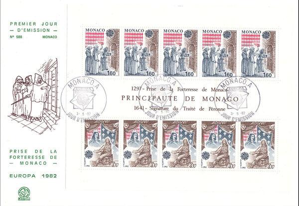 Monaco 1982 EUROPA FDCb