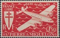 St Pierre et Miquelon 1942 France Libre (Air Post Stamps) b