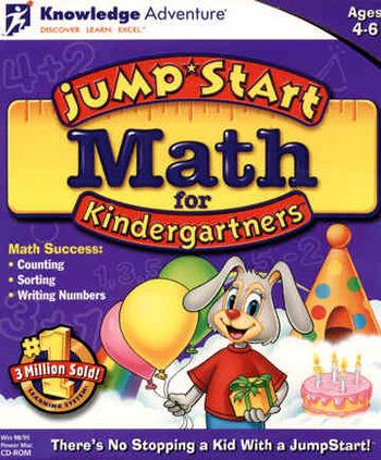 Image of JumpStart Math for Kindergartners.