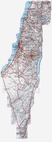 Mapa de Israel - Locais visitados