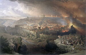 400px-Ercole de Roberti Destruction of Jerusalem Fighting Fleeing Marching Slaying Burning Chemical reactions b