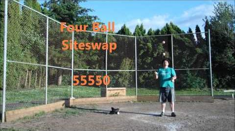 55550 ~ Four Ball Siteswap