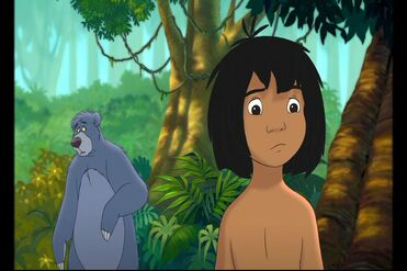 Baloo the Bear is telling Mowgli he's not with Shanti anymore