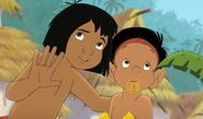 Ranjan is being told by Mowgli to listen to the jungle