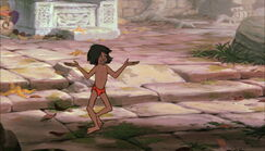 Mowgli is danceing and haveing fun