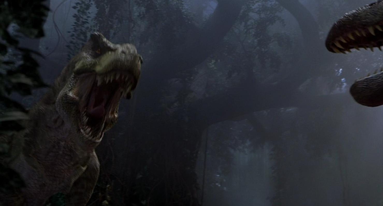spinosaurus vs t rex scene jurassic park wiki fandom powered