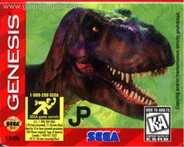 File:Jurassic Park 2 - The Lost World - 1997 - Electronic Arts.jpg