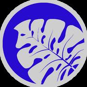 Botanical gardens icon blue
