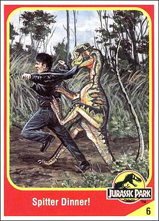Archivo:Dilophosaurus collector card.jpg