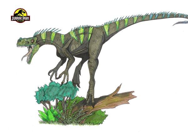 File:Jurassic Park Ornitholestes by hellraptor.jpg
