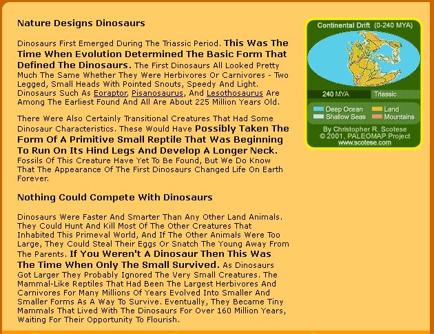 Nature Design Dinosaurs