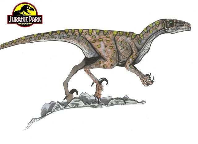 File:Jurassic Park Deinonychus by hellraptor.jpg