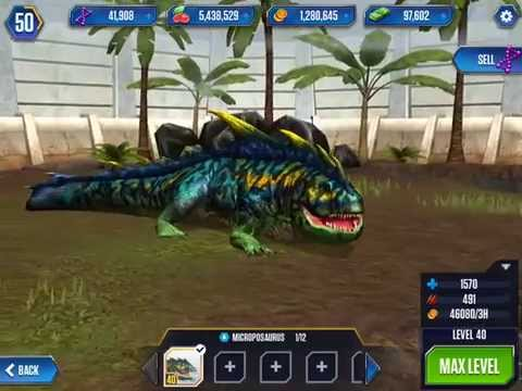 File:MICROPOSAURUS - Jurassic World The Game - Maxed Android.jpg