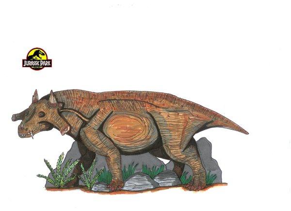 File:Jurassic Park Estemmenosuchus by hellraptor.jpg