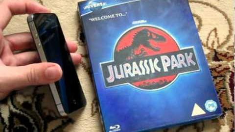 Jurassic Park Blu Ray Universal 100th Anniversary Augmented Edition