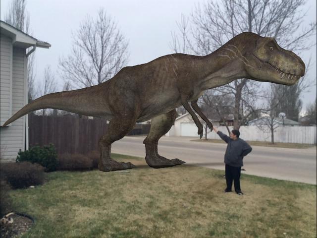 File:The park's veteran Tyrannosaurus rex in my front yard .png
