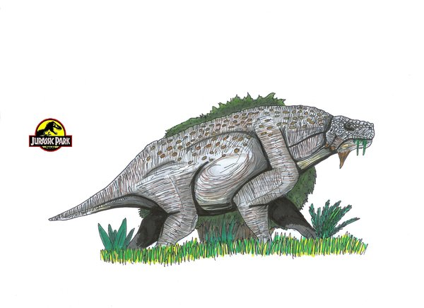File:Jurassic park Scutosaurus by hellraptor.jpg
