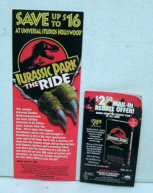The Ride Promo Card & VHS Rebate Booklet