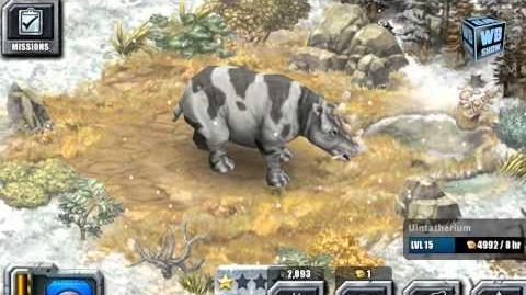 Jurassic Park Builder - Uintatherium Glacier Park Animal 5