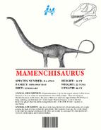 Ingen Dinosaur Info Sheets Mamenchisaurus