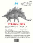 Ingen Dinosaur Info Sheets Stegosaurus