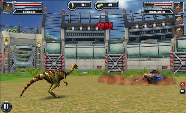 File:Jurassic Park Builder Battle Arena Gallimimus3 Nov. 03, 2015.jpg