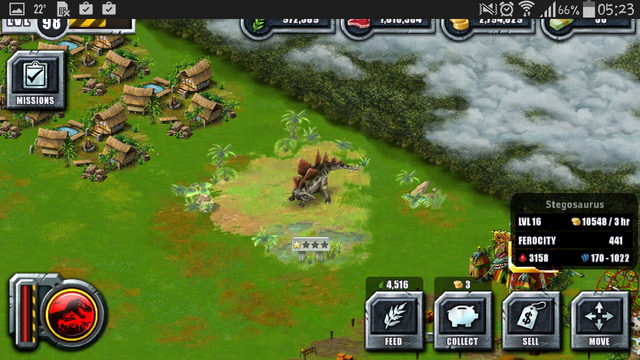 File:Jurassic Park Builder Game Pictures Dinosaurs Stegosaurus Levels 16.png