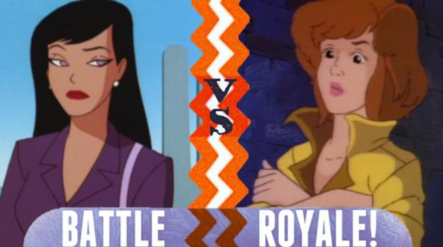 File:Battle Royale Lois Lane VS April O'Neil.png