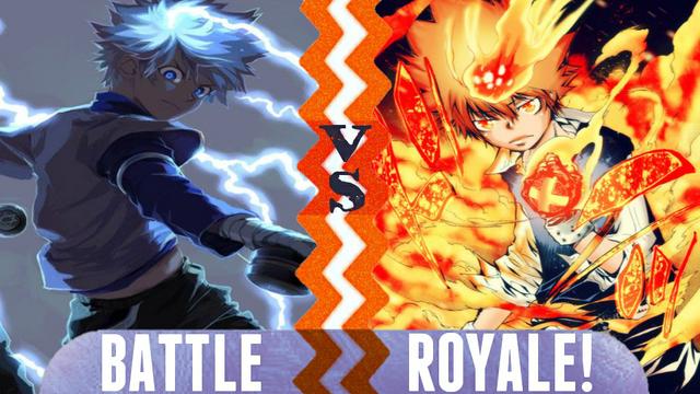 File:Battle Royale Killua Zoldyck vs Tsunayoshi Sawada.png