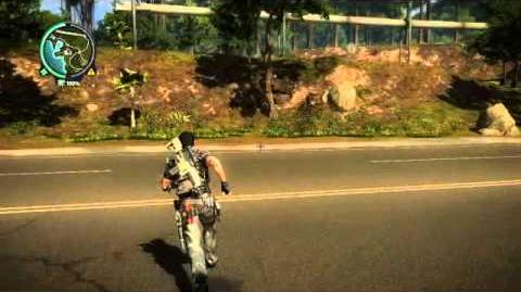 Just Cause 2 leaning glitch